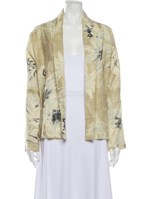 Eskandar Floral Print Jacket