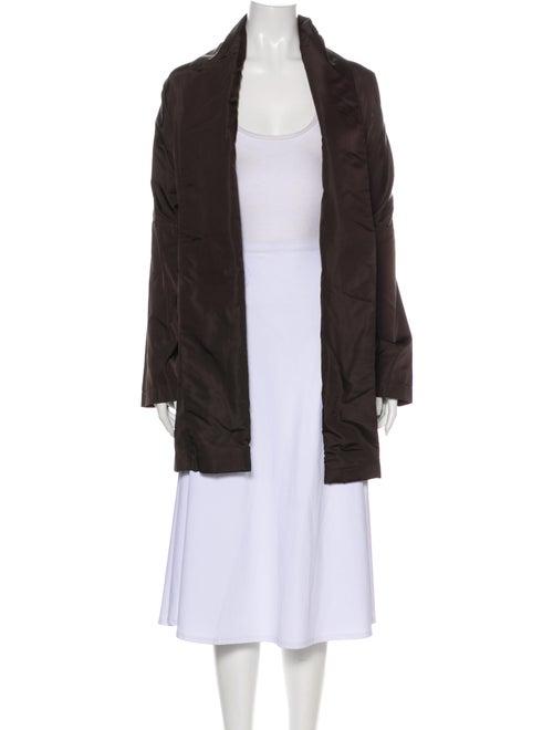 Eskandar Silk Coat Brown