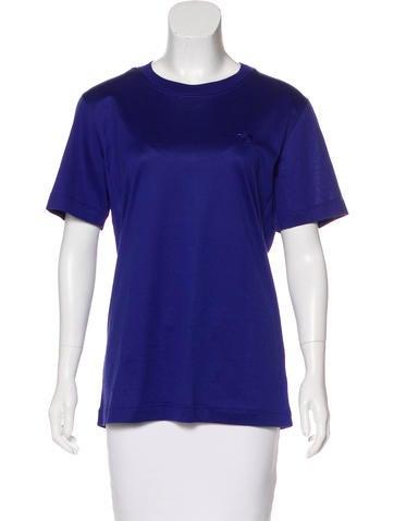 Escada Margaretha Ley Embroidered Short Sleeve Top None