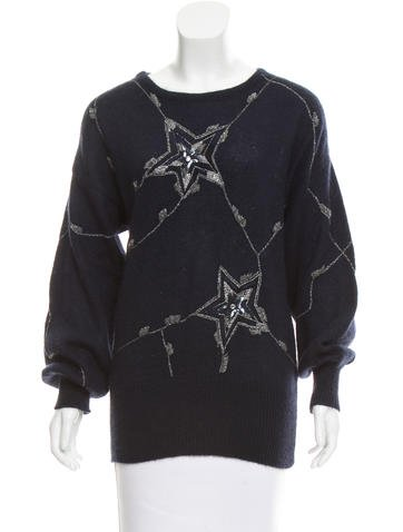 Escada Margaretha Ley Mohair Embroidered Sweater None