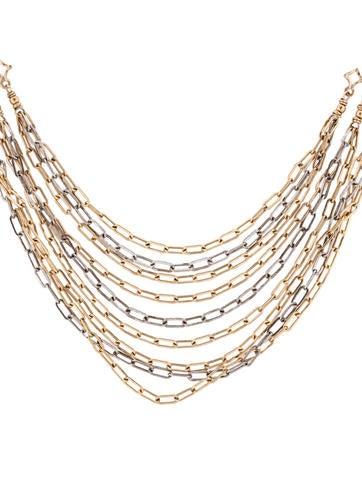 Two-Tone Nine Strand Necklace