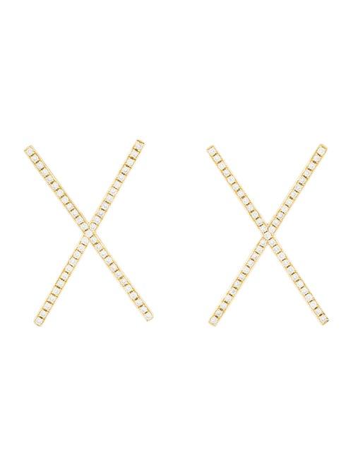 Established Jewelry 18K Diamond 'X' Stud Earrings