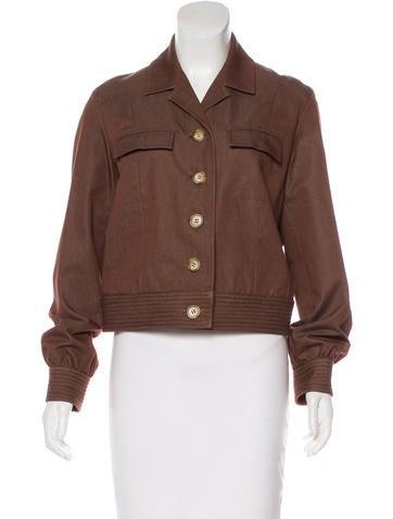 Button-Up Crop Jacket