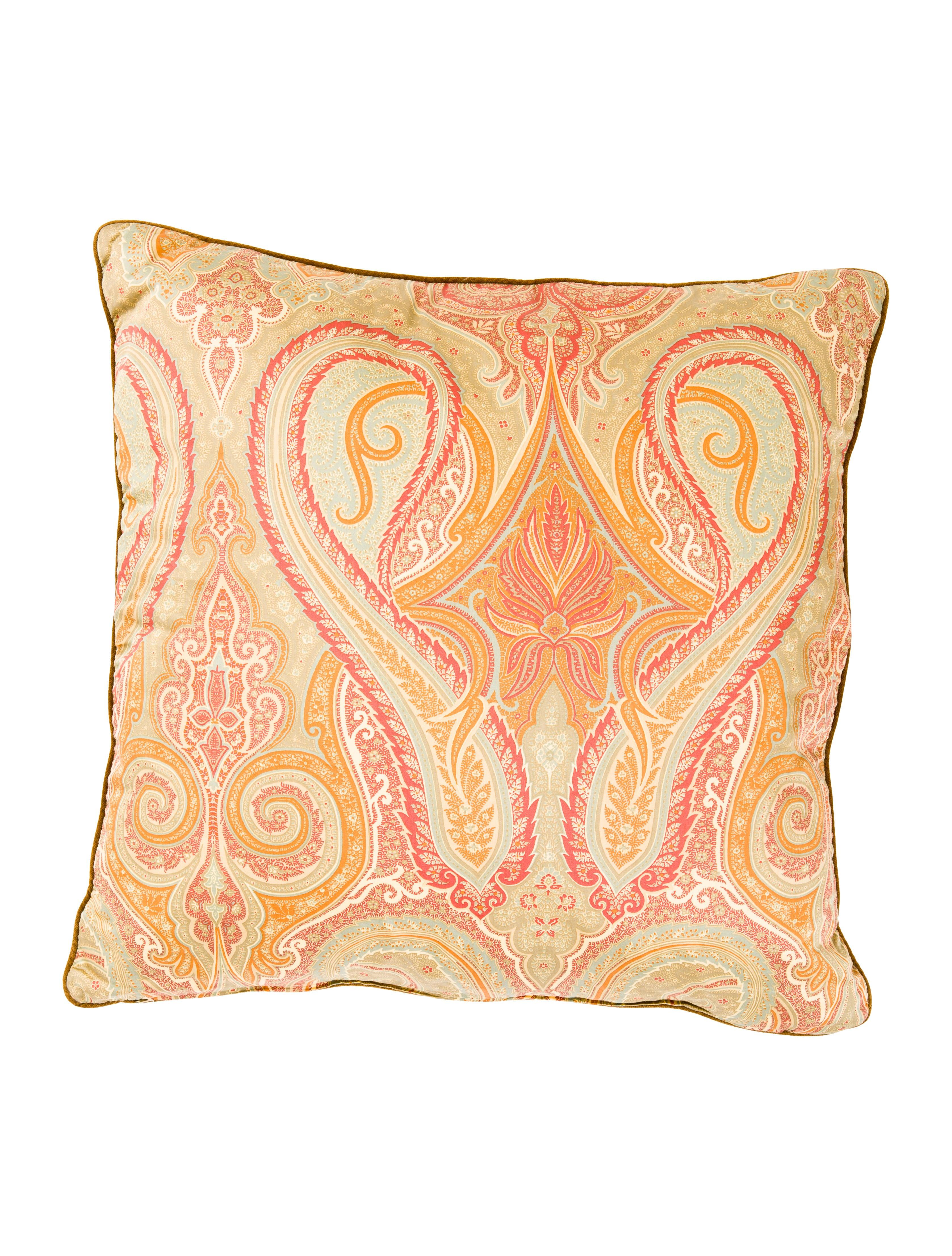 Throw Pillow That Says Home : Etro Home Throw Pillow - Pillows And Throws - ETH20046 The RealReal