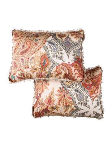 Etro Home Paisley Print Throw Pillows w/ Tags