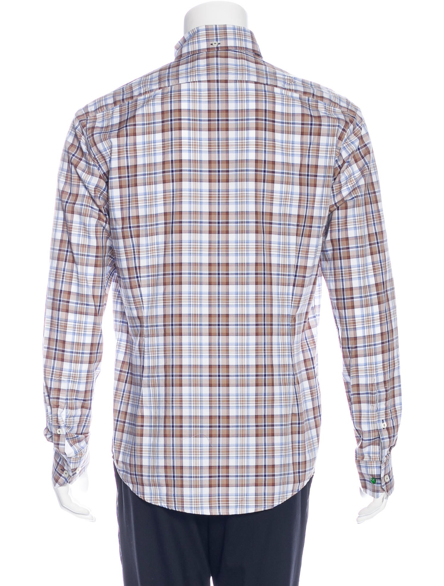 Eton Plaid Long Sleeve Shirt W Tags Clothing Etn20089