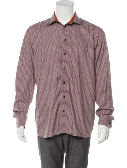 Eton Cutaway Collar Checkered Shirt multicolor