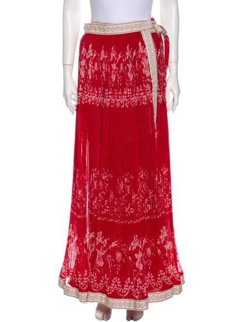 Etro Printed Maxi Skirt Long Skirt Red