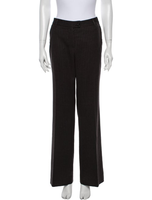 Etro Striped Wide Leg Pants Grey
