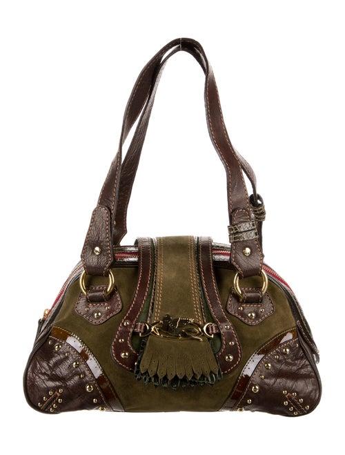 Etro Patchwork Shoulder Bag Green