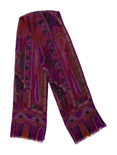 Etro Wool-Silk Printed Scarf Purple