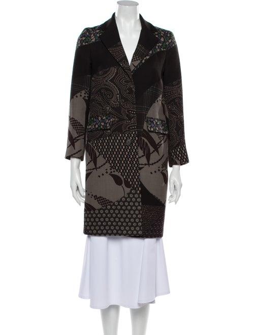 Etro Wool Printed Coat Wool