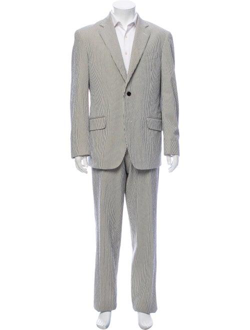 Etro Striped Two-Piece Suit Black