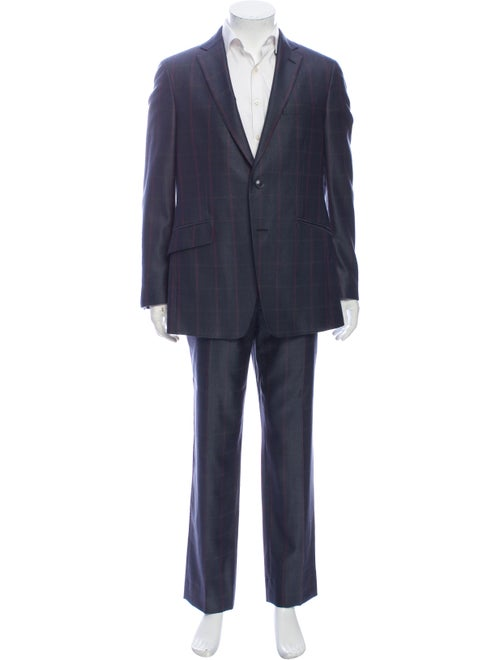 Etro Silk Two-Piece Suit Blue