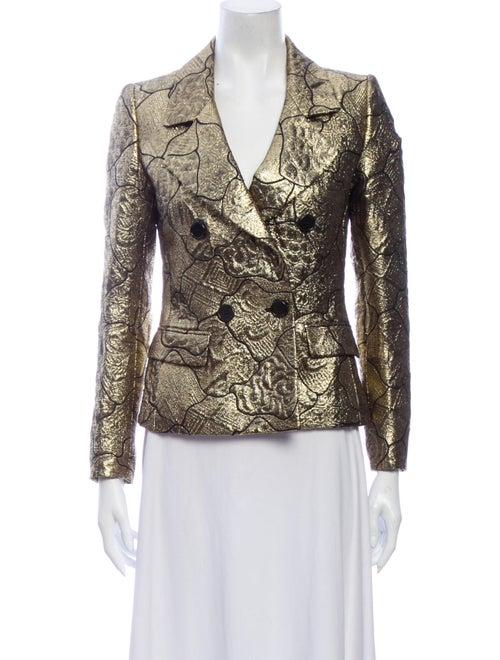 Etro Printed Blazer Gold