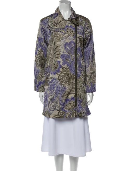 Etro Paisley Print Evening Jacket Purple