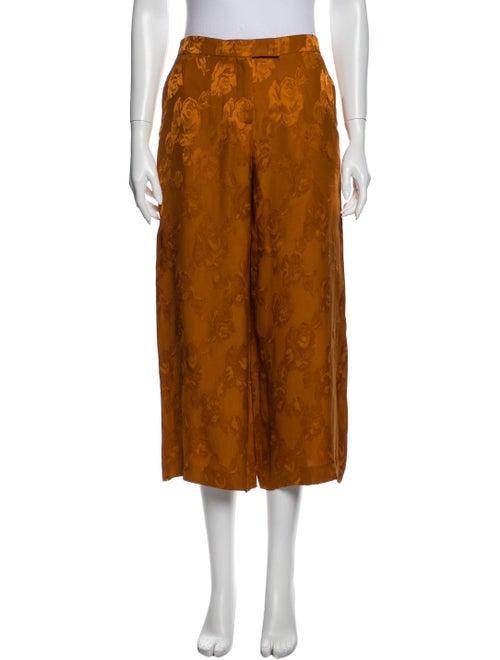 Etro Printed Wide Leg Pants Orange