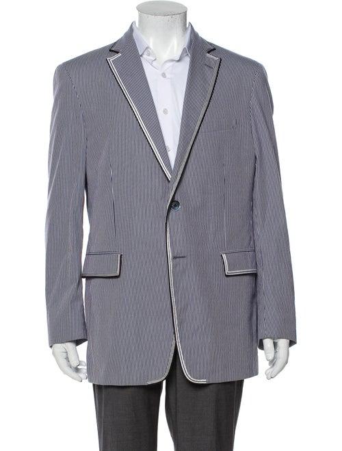 Etro Striped Sport Coat Blue