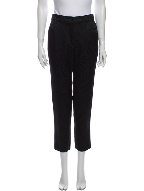 Etro Printed Straight Leg Pants Black