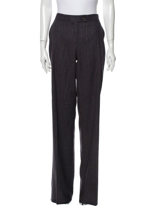 Etro Wool Wide Leg Pants Wool