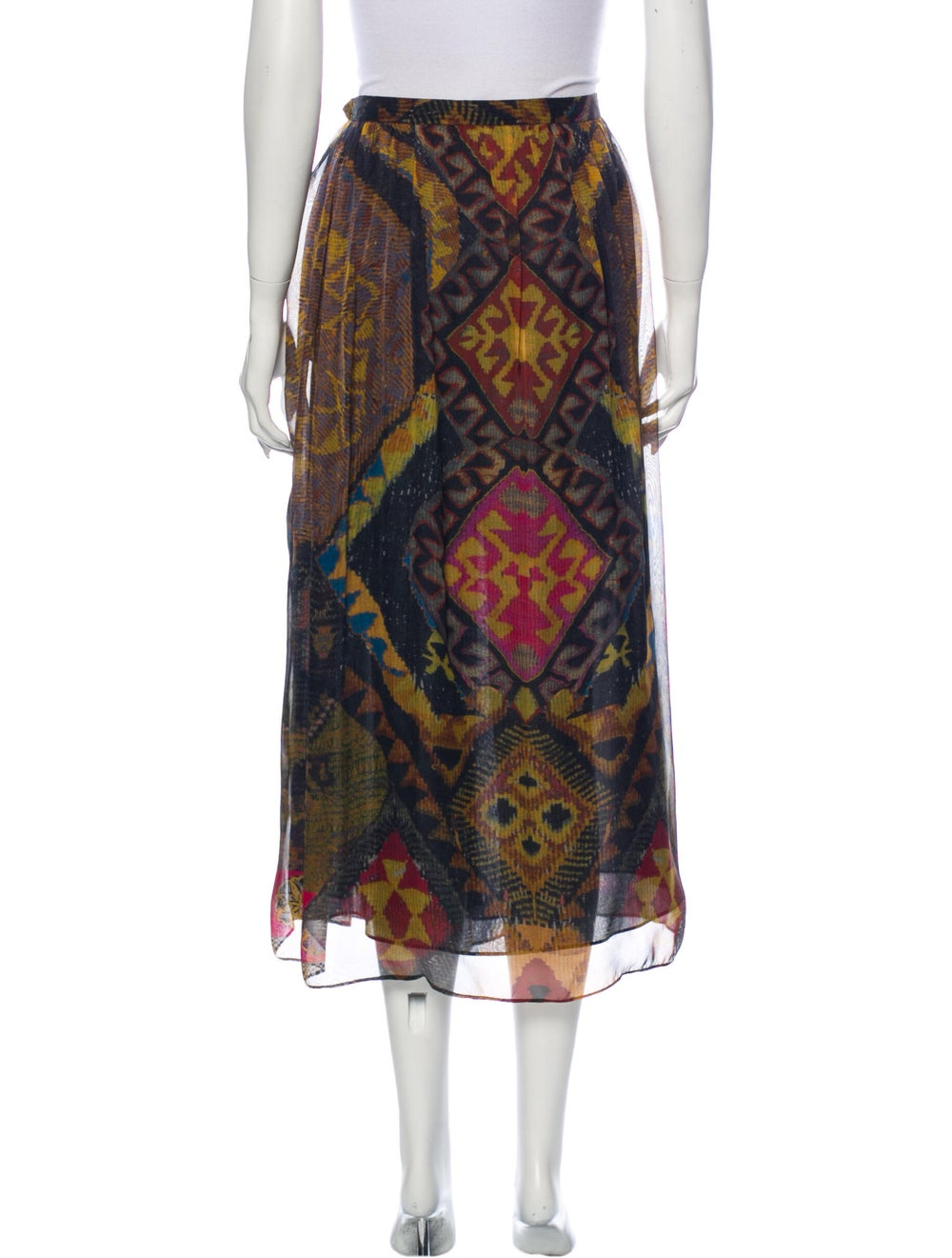 Etro Silk Midi Length Skirt Brown - image 3