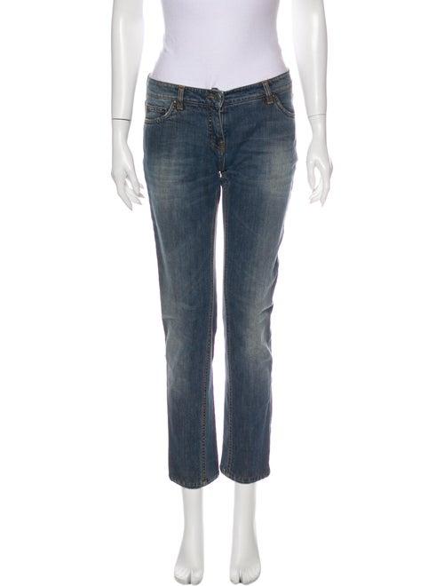 Etro Low-Rise Straight Leg Jeans Blue