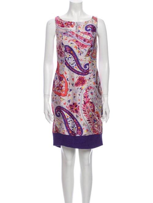 Etro Linen Mini Dress Pink