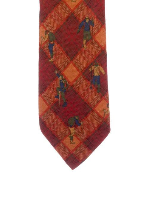 Etro Wool-Silk Blend Tie w/ Tags orange