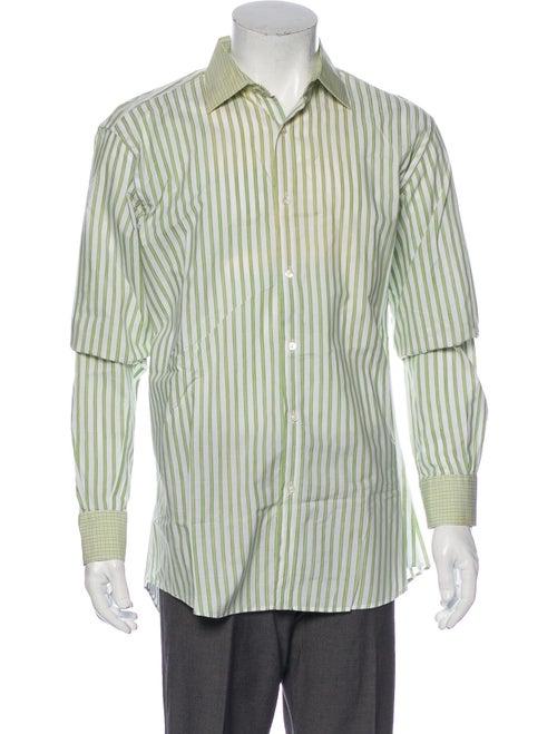 Etro Plaid Print Long Sleeve Shirt White