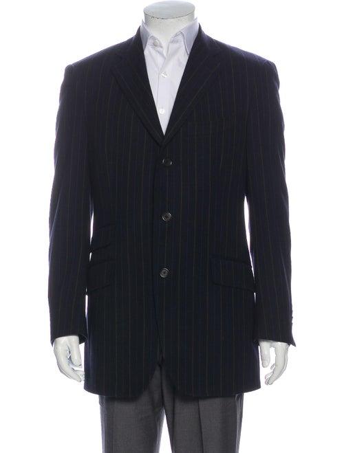 Etro Wool Striped Blazer Wool