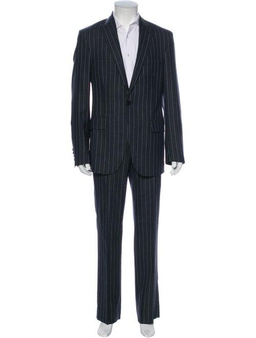 Etro Wool Striped Two-Piece Suit Wool
