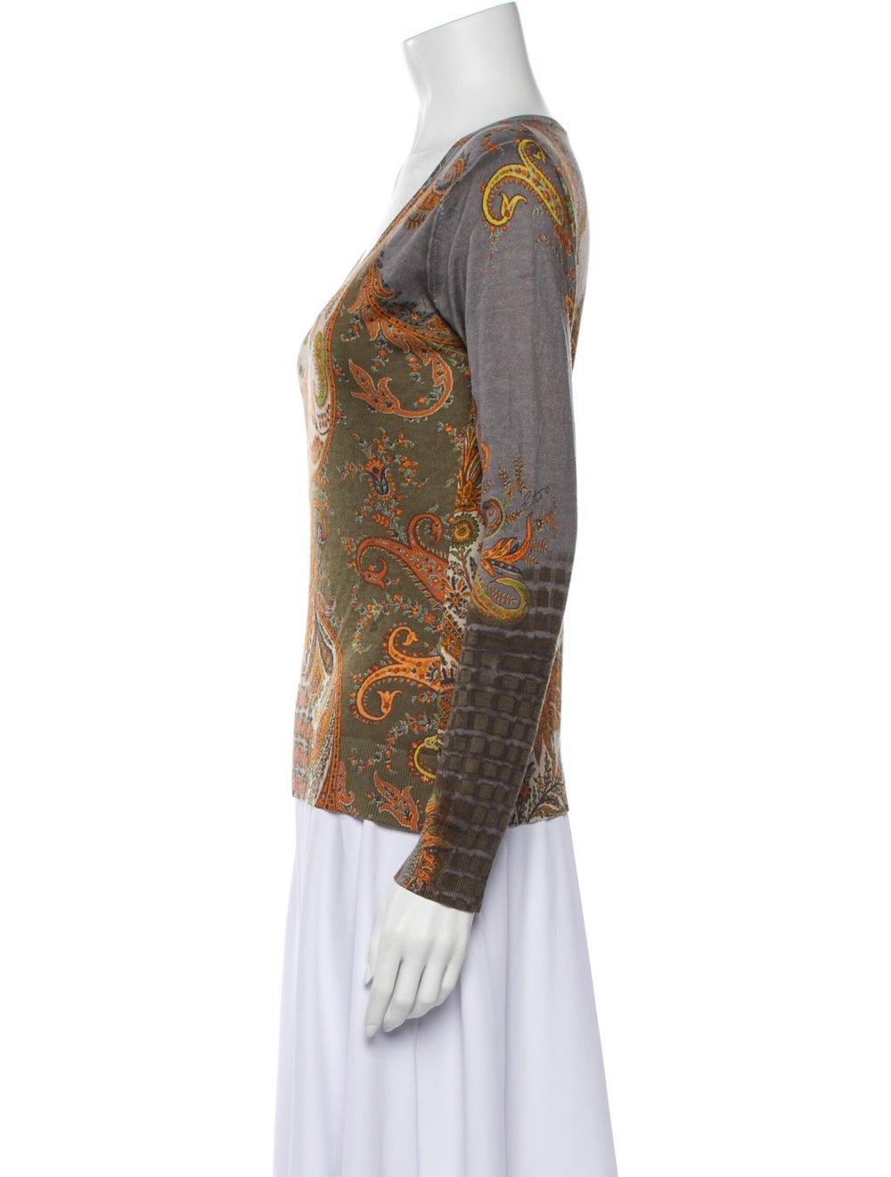 Etro Silk Paisley Print Sweater - image 2