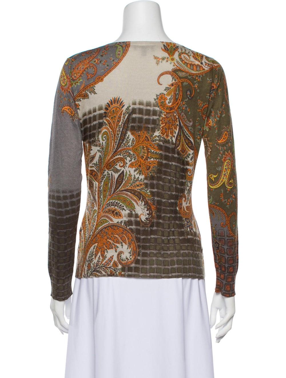 Etro Silk Paisley Print Sweater - image 3