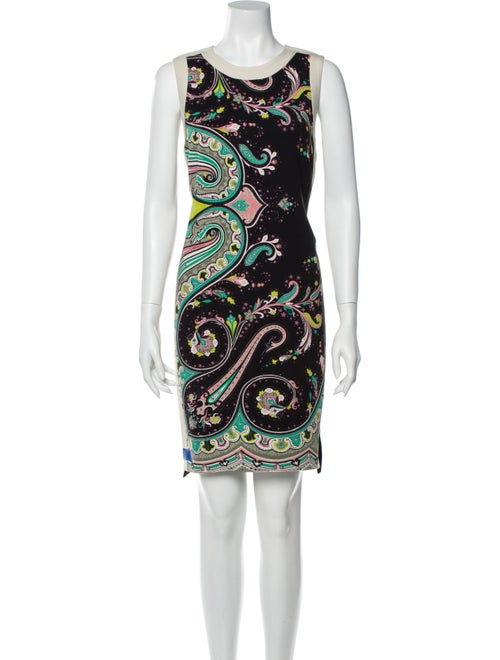 Etro Paisley Print Knee-Length Dress Black