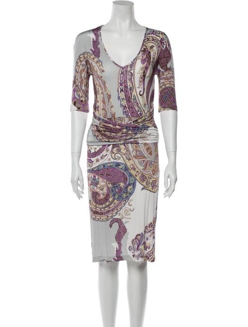 Etro Paisley Print Knee-Length Dress