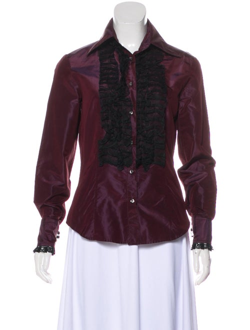 Etro Silk Lace-Trimmed Blouse