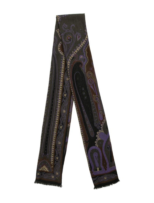 Etro Wool & Silk Scarf Purple