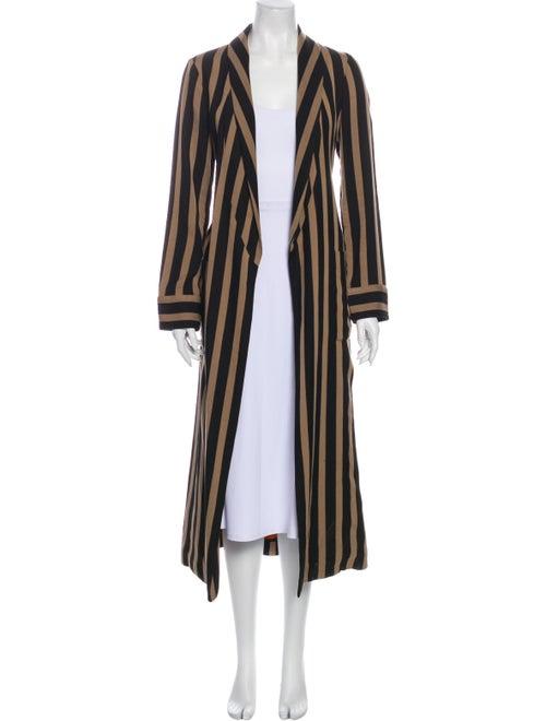 Etro Striped Coat Brown