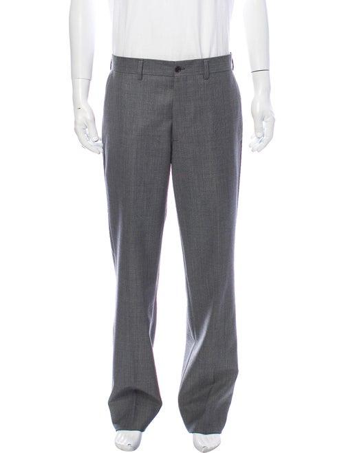 Etro Tweed Pattern Pants Grey