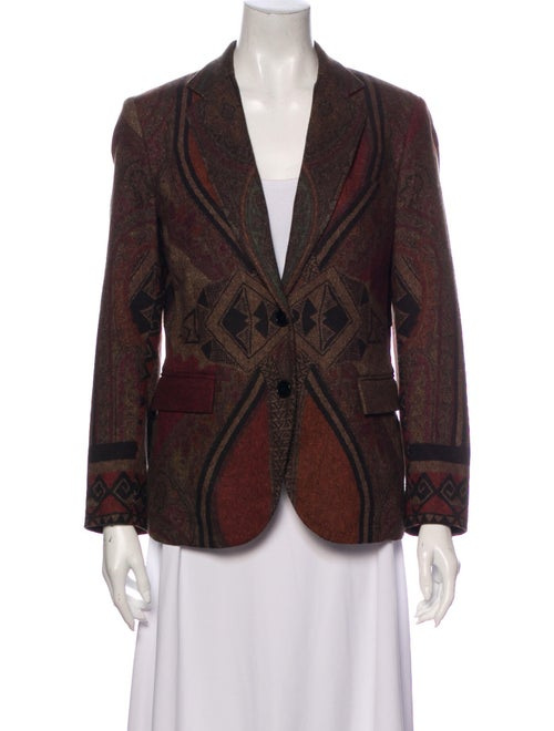 Etro Printed Blazer Brown
