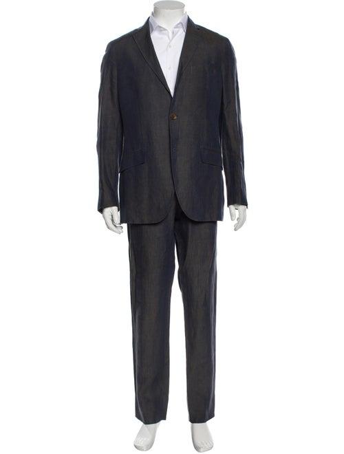 Etro Linen Two-Piece Suit Blue