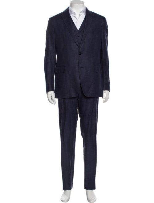 Etro Three-Piece Suit Blue
