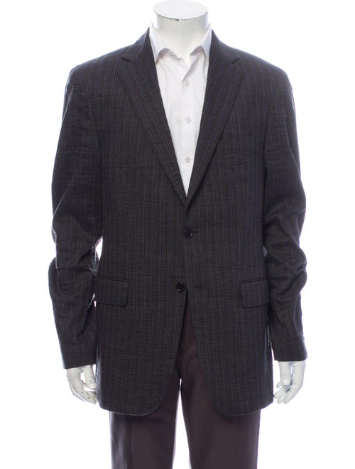 Etro Striped Blazer Grey