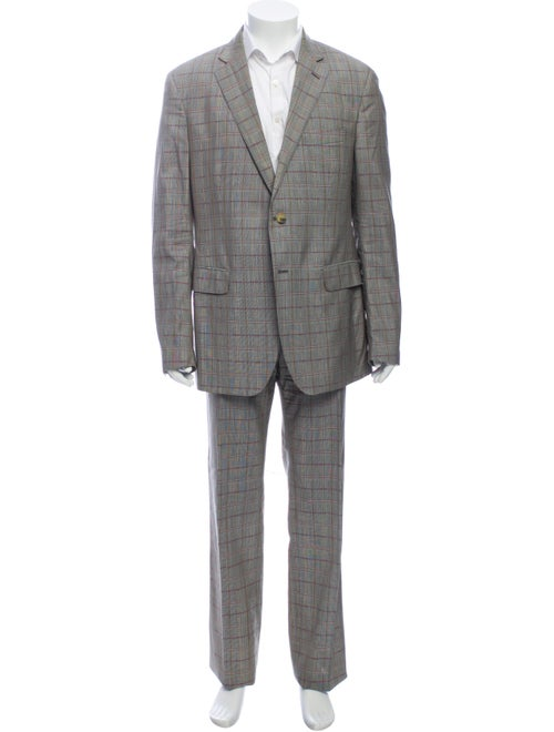 Etro Wool Printed Two-Piece Suit Wool