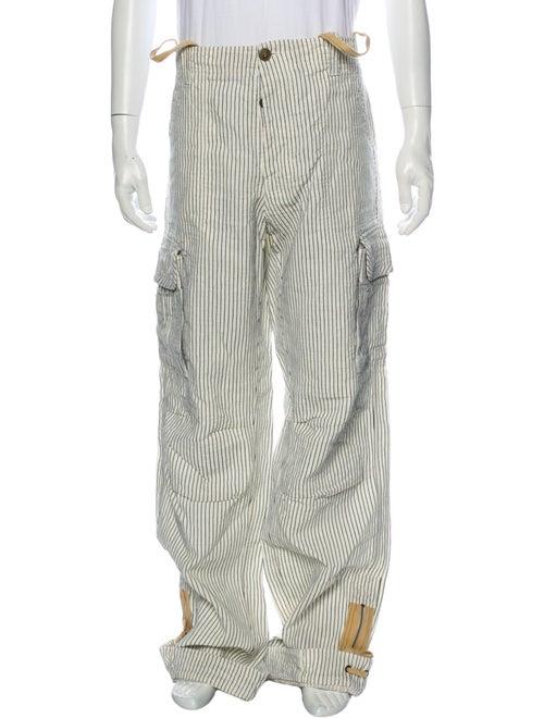 Etro Linen Corduroy Pants White