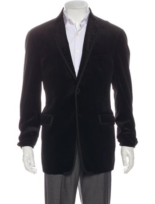 Etro Velvet Smoking Jacket Blazer Black