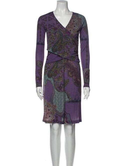 Etro Wool Mini Dress Wool