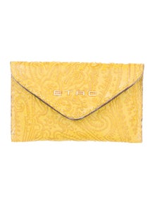 Etro Embossed Leather Pouch