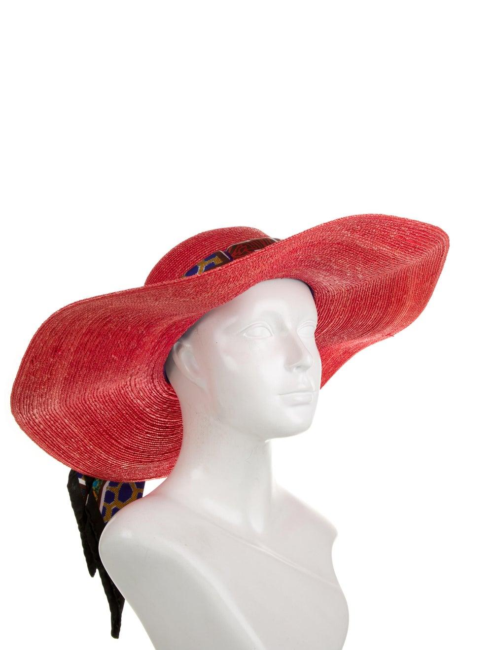 Etro Wide Brim Hat Orange - image 3