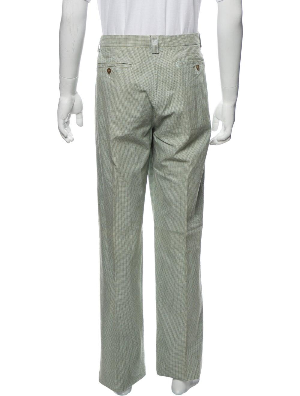 Etro Plaid Print Pants Green - image 3